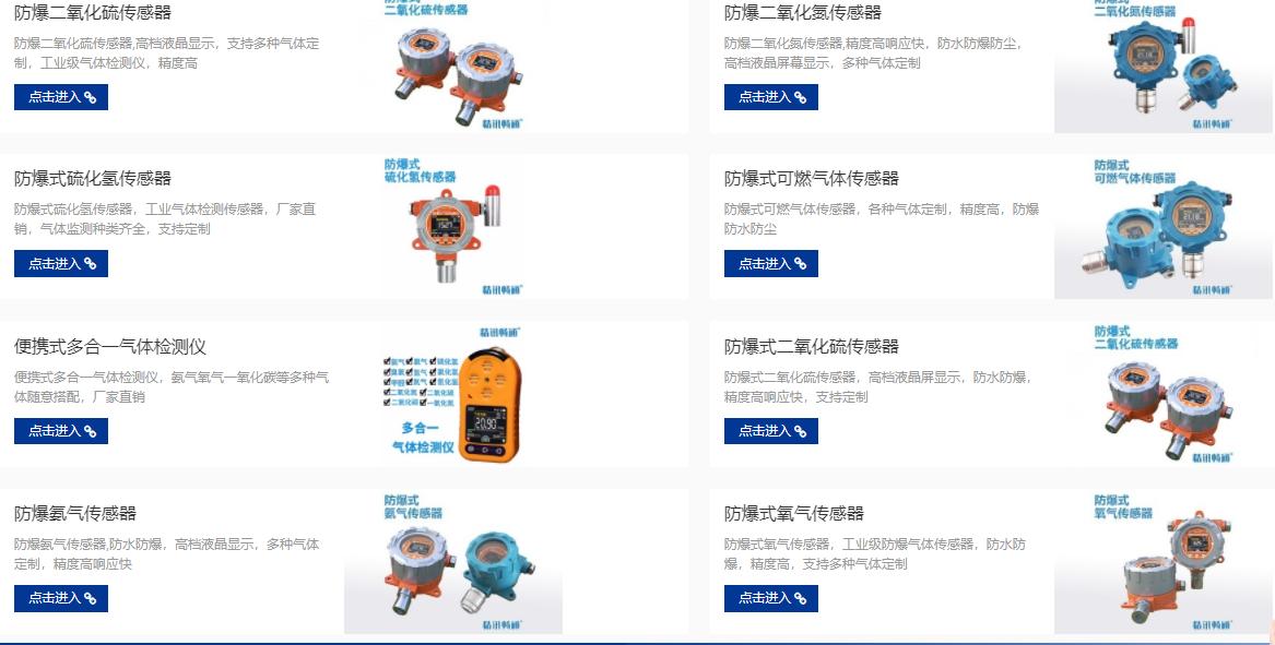 各类气体传感器